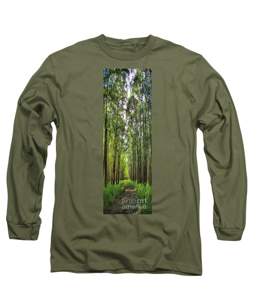 Long Sleeve T-Shirt featuring the photograph Into The Forest I Go by DJ Florek