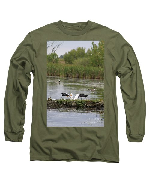 Into The Water Long Sleeve T-Shirt by Alyce Taylor