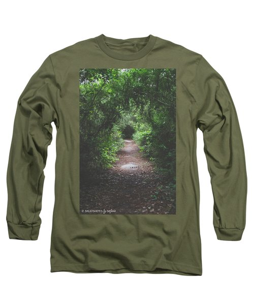 Into The Wormhole Long Sleeve T-Shirt by Stefanie Silva