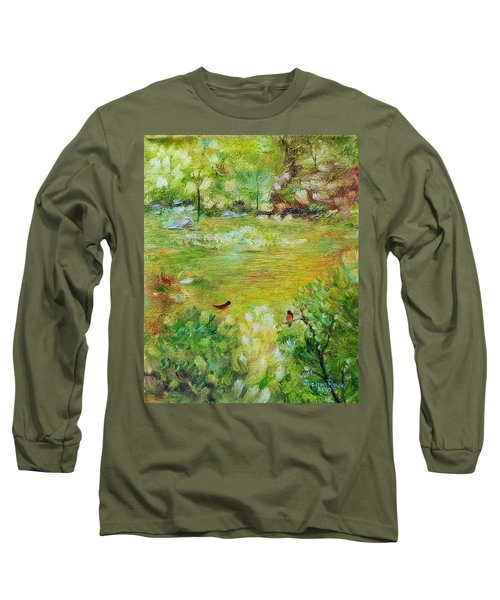 Long Sleeve T-Shirt featuring the painting Invincible Spring by Judith Rhue