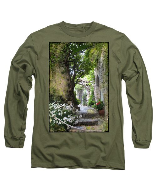 Inviting Courtyard Long Sleeve T-Shirt by Carla Parris