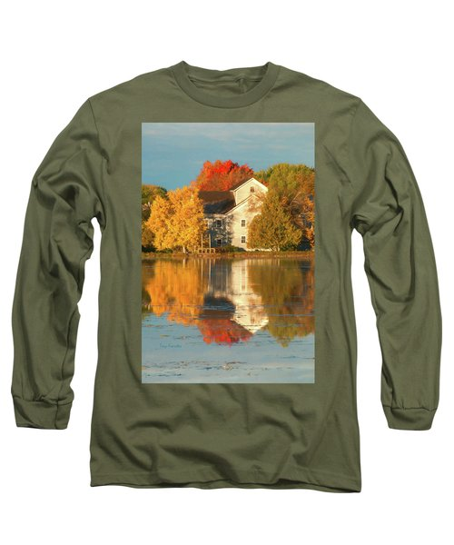 Iola Mill Fall Reflection Long Sleeve T-Shirt by Trey Foerster