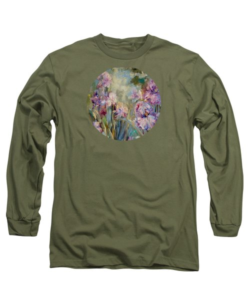 Iris Garden Long Sleeve T-Shirt by Mary Wolf
