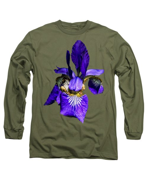 Iris Versicolor Long Sleeve T-Shirt by Mark Myhaver