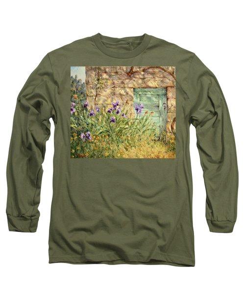 Irises At The Old Barn Long Sleeve T-Shirt