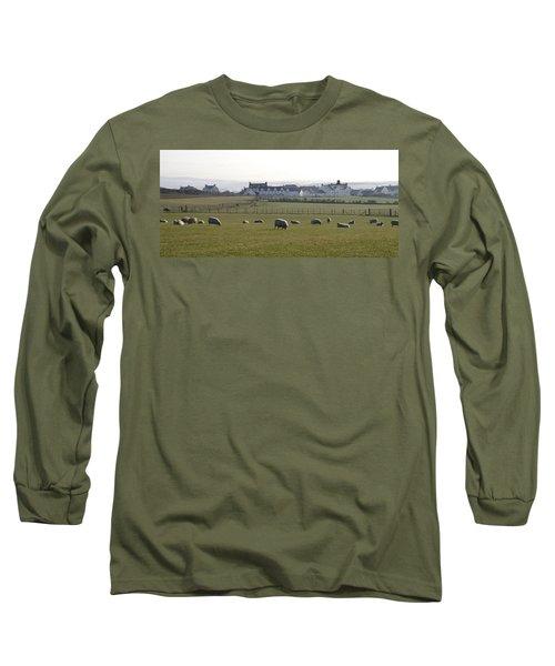 Irish Sheep Farm Long Sleeve T-Shirt by Henri Irizarri