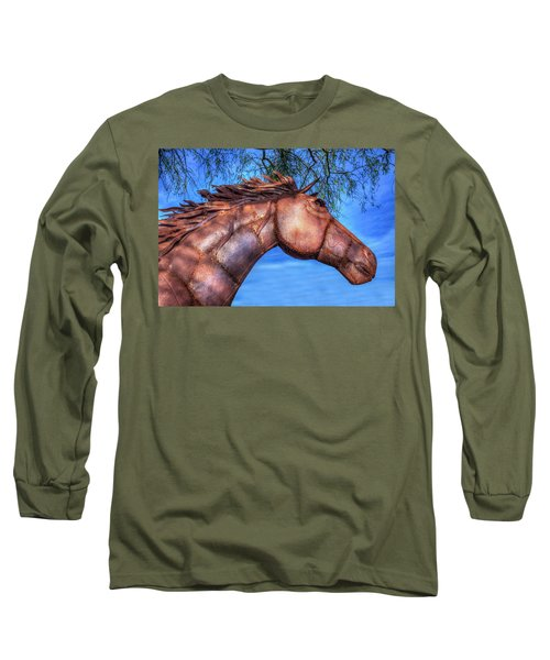 Long Sleeve T-Shirt featuring the photograph Iron Horse by Paul Wear