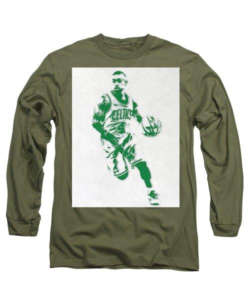Isaiah Thomas Boston Celtics Pixel Art 2 Long Sleeve T-Shirt
