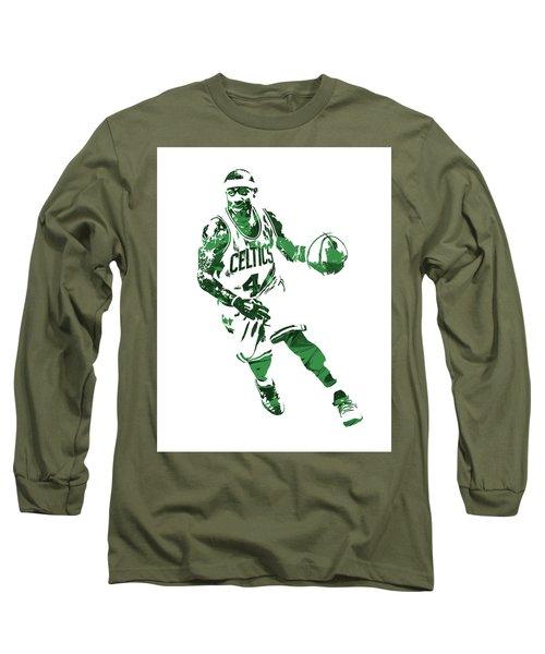 Isaiah Thomas Boston Celtics Pixel Art 6 Long Sleeve T-Shirt
