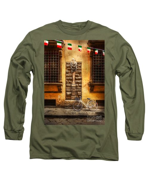 Italia Cential Bicycle Long Sleeve T-Shirt by Craig J Satterlee
