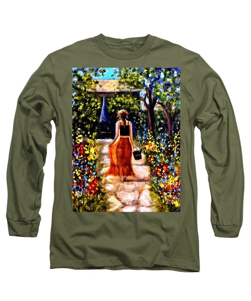 Long Sleeve T-Shirt featuring the painting It's A Beautiful Day.. by Cristina Mihailescu