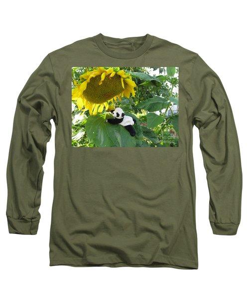 Long Sleeve T-Shirt featuring the photograph It's A Big Sunflower by Ausra Huntington nee Paulauskaite