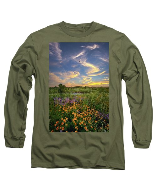 Long Sleeve T-Shirt featuring the photograph It's Time To Relax by Phil Koch