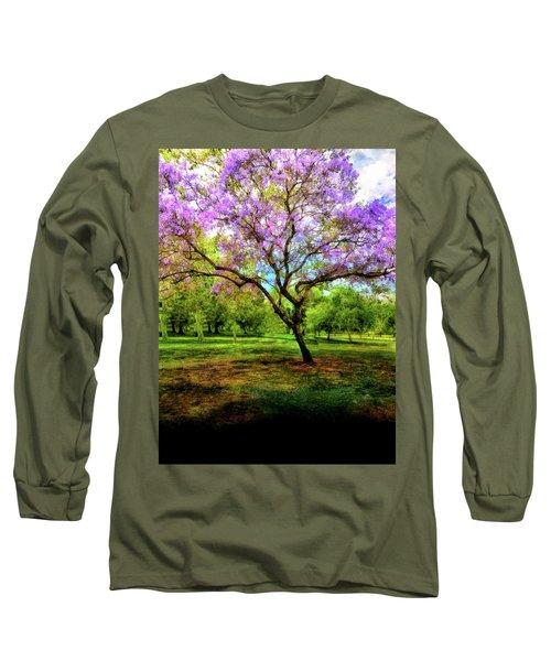 Jacaranda Tree Long Sleeve T-Shirt by Joseph Hollingsworth