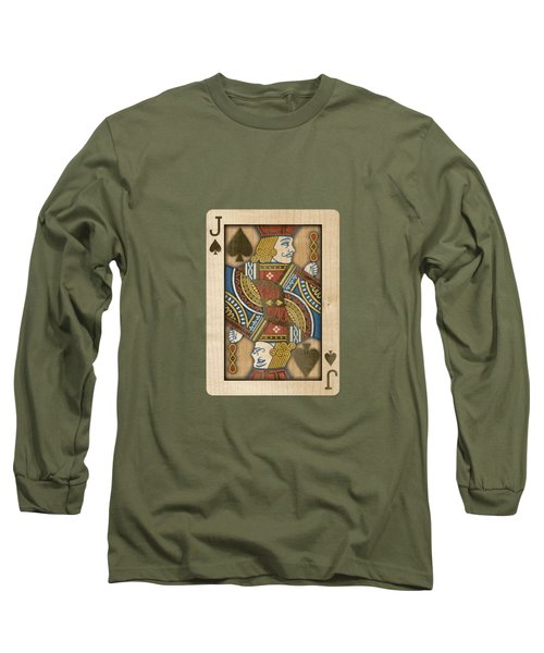 Jack Of Spades In Wood Long Sleeve T-Shirt