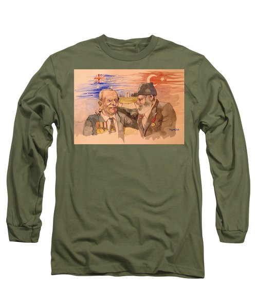 Long Sleeve T-Shirt featuring the painting Jack Ryan And Hyseyin Kacmaz by Ray Agius