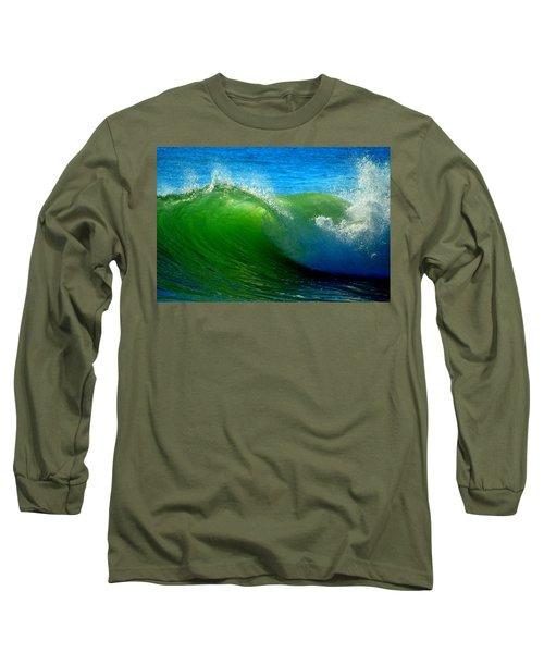 Jade Cascade Long Sleeve T-Shirt by Dianne Cowen