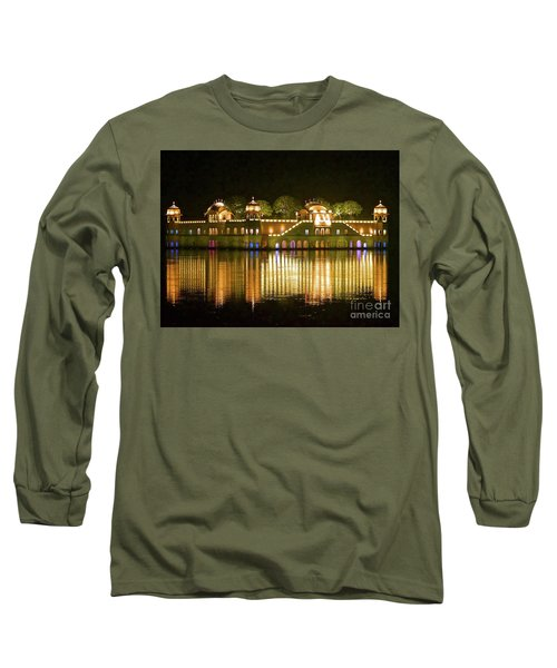 Jal Palace At Night Long Sleeve T-Shirt by Michael Cinnamond