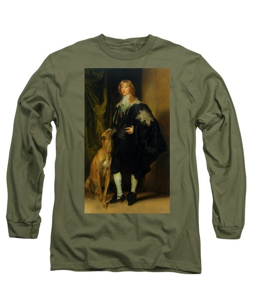 Long Sleeve T-Shirt featuring the painting James Stuart - Duke Of Richmond And Lennox                       by Anthony Van Dyck