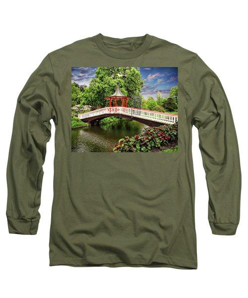 Japanese Bridge Garden Long Sleeve T-Shirt