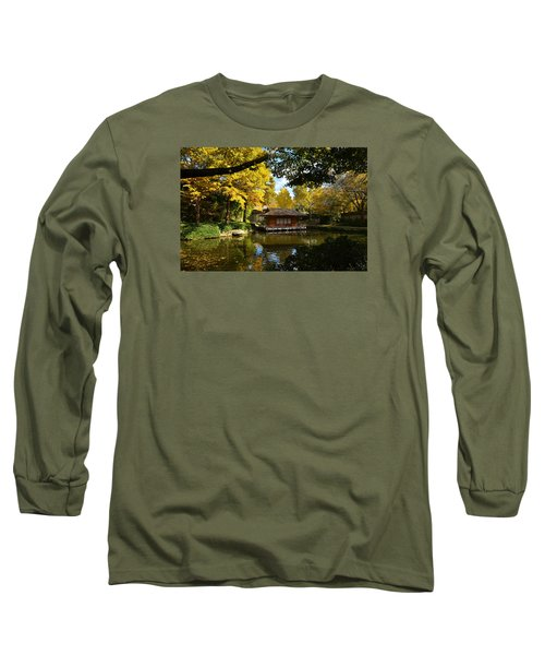 Japanese Gardens 2541a Long Sleeve T-Shirt by Ricardo J Ruiz de Porras