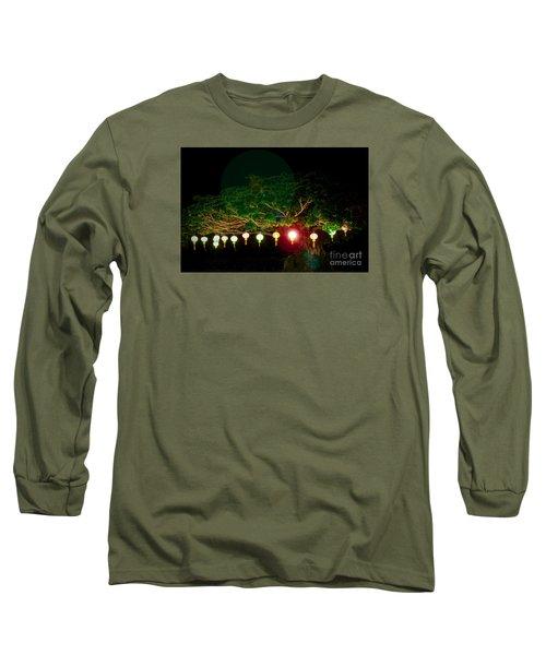 Japanese Lantern Tree Long Sleeve T-Shirt
