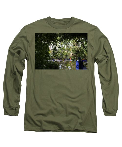 Long Sleeve T-Shirt featuring the photograph Jardin Majorelle 2 by Andrew Fare