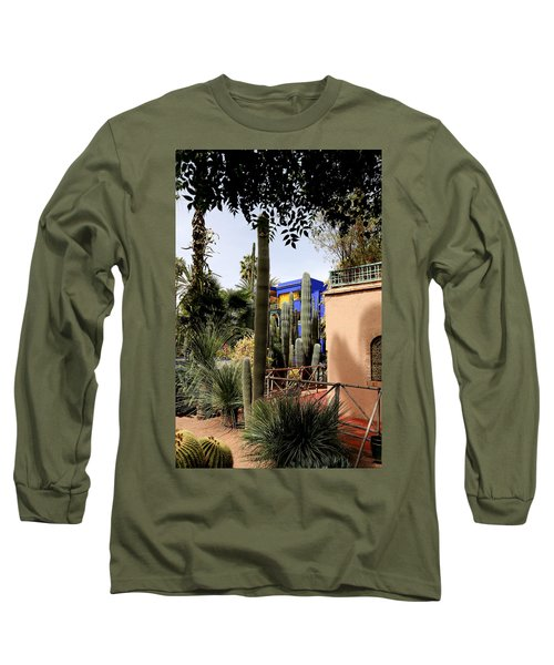 Long Sleeve T-Shirt featuring the photograph Jardin Majorelle 4 by Andrew Fare