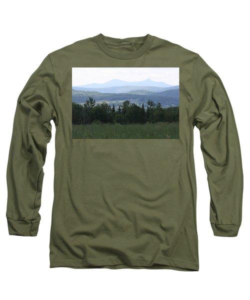 Jay Peak From Irasburg Long Sleeve T-Shirt