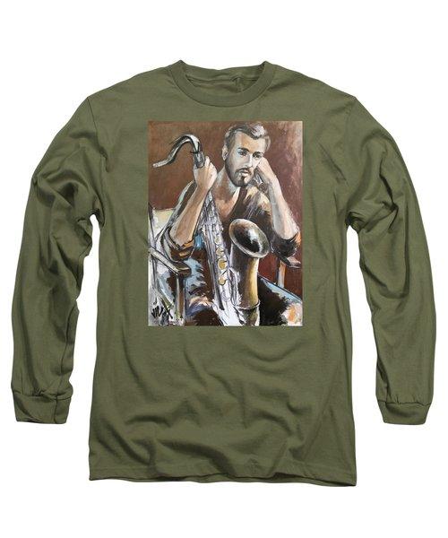 Jazz Long Sleeve T-Shirt by Vali Irina Ciobanu