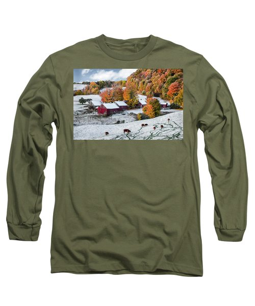 Long Sleeve T-Shirt featuring the photograph Jenne Farm, Reading, Vt by Betty Denise