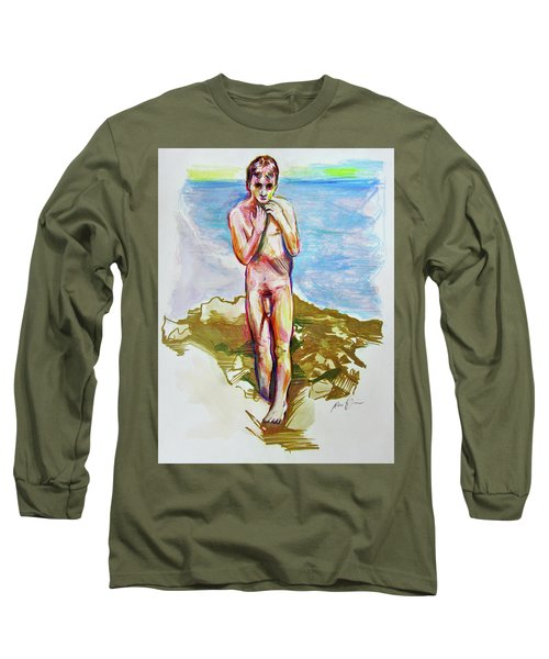 Jeremy At The Beach Long Sleeve T-Shirt