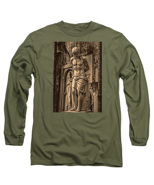 Long Sleeve T-Shirt featuring the photograph Jesus In Rome by Trey Foerster