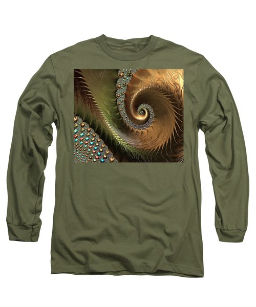 Jewel And Spiral Abstract Long Sleeve T-Shirt