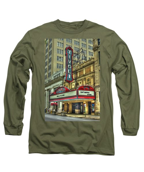 Jewel Of The South Tivoli Chattanooga Historic Theater Art Long Sleeve T-Shirt
