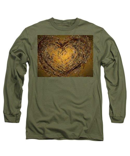 Jeweled Heart Long Sleeve T-Shirt