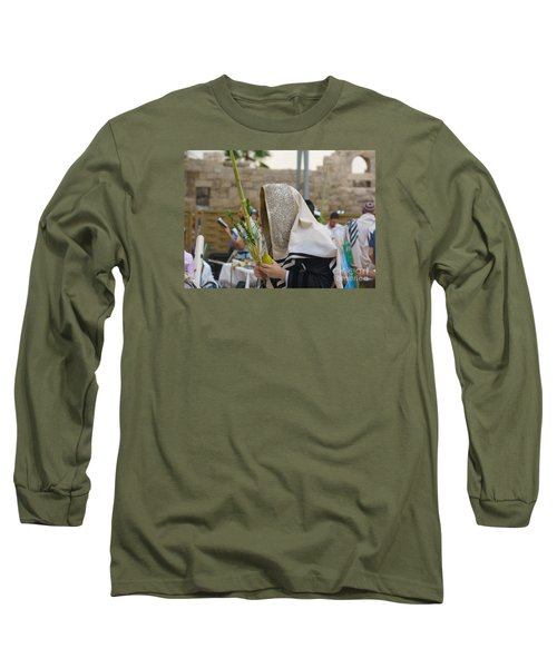 Jewish Sunrise Prayers At The Western Wall, Israel 7 Long Sleeve T-Shirt