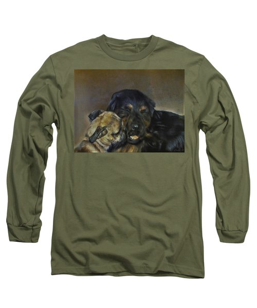Jim And Ozzy Long Sleeve T-Shirt by Cherise Foster