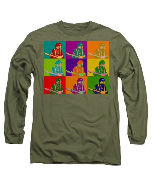 Jimi Hendrix In The Style Of Andy Warhol Long Sleeve T-Shirt