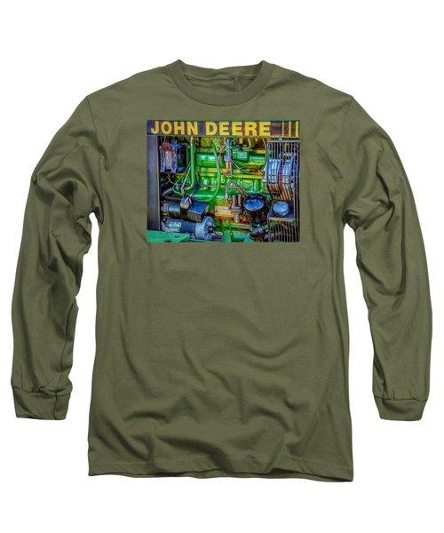 John Deere Engine Long Sleeve T-Shirt by Trey Foerster
