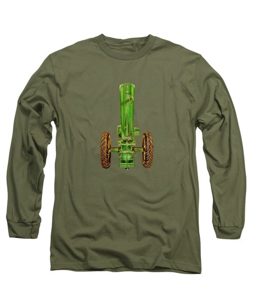 Long Sleeve T-Shirt featuring the photograph John Deere Top On Black by YoPedro