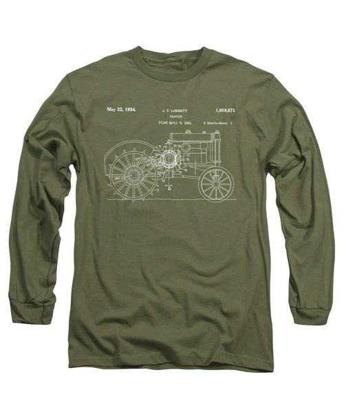 John Deere Tractor Patent Tee Long Sleeve T-Shirt