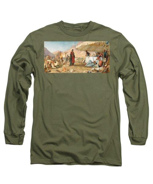 Long Sleeve T-Shirt featuring the photograph John Frederick Lewis Mount Sinai 1842 by Munir Alawi