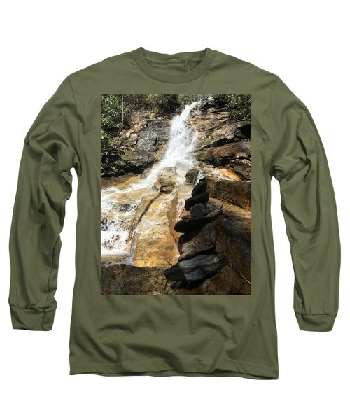 Jones Gap Falls  Long Sleeve T-Shirt by Kelly Hazel