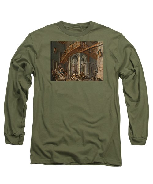 Long Sleeve T-Shirt featuring the painting Joseph Interprets The Dreams Of The Pharaoh's Servants Whilts In Jail by Alessandro Magnasco