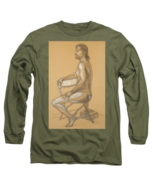 Joseph - Seated Long Sleeve T-Shirt by Donelli  DiMaria