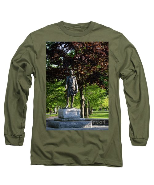 Joshua Lawrence Chamberlain, Bowdoin College Campus  #0025 Long Sleeve T-Shirt