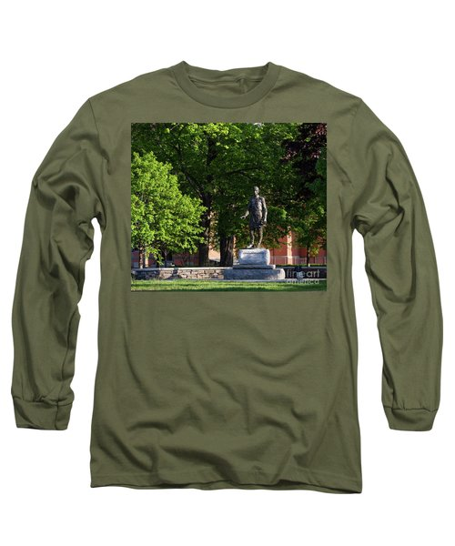 Joshua Lawrence Chamberlain Statue, Brunswick, Maine #0013 Long Sleeve T-Shirt