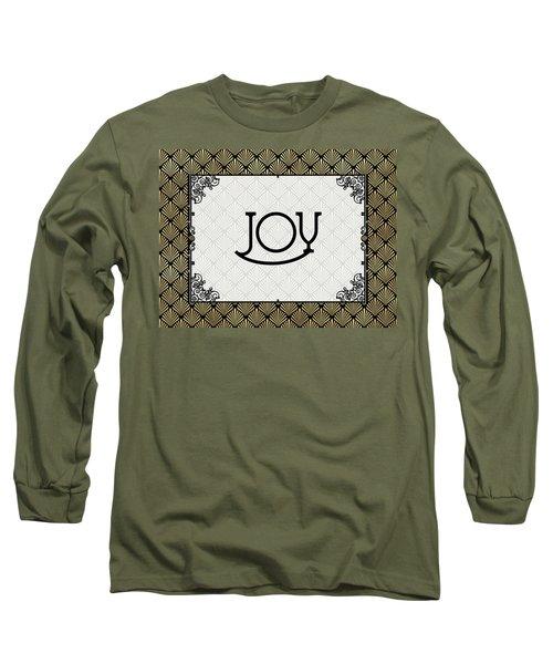Joy - Art Deco Long Sleeve T-Shirt