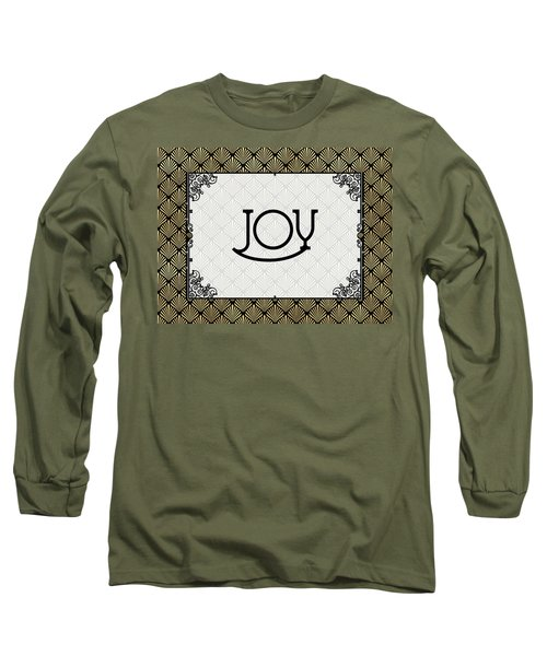 Joy - Art Deco Long Sleeve T-Shirt